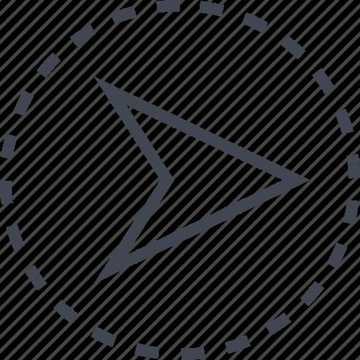 arrow, gps, pointer, right icon