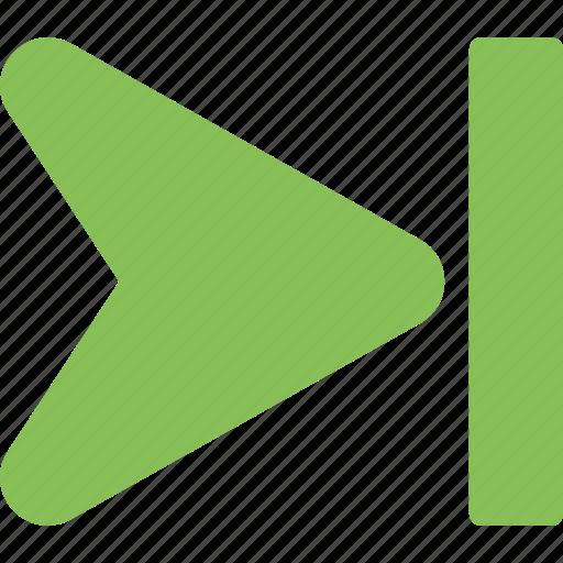 arrow, forward arrow, forward button, multimedia button, next track icon