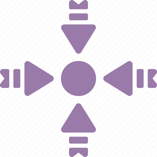 arrowheads, center point, focus, pointer, pointing center arrows icon