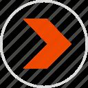 arrow, go, next, point, pointing icon
