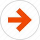 arrow, go, point, pointing, right icon