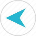 arrow, direction, exit, left, pointing icon