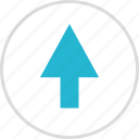 arrow, direction, pointing, up icon