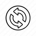 sync, arrows, navigation