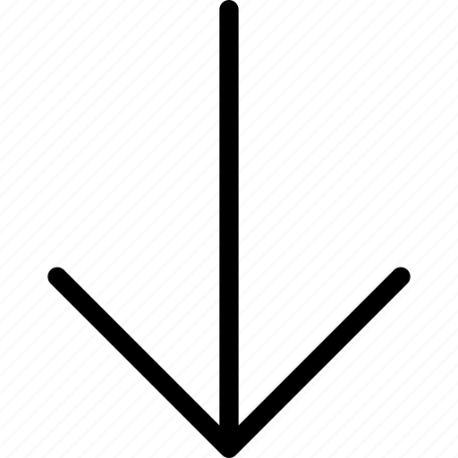 arrows, direction, down, location, move icon