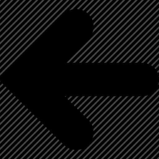 arrows, direction, left, move, previous icon