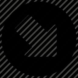 arrows, direction, e, move, s icon