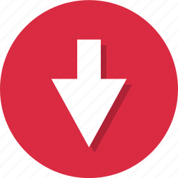 arrow, down, point, pointing icon