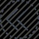 double, direction, arrow, left