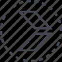 arrow, direction, double, sleek