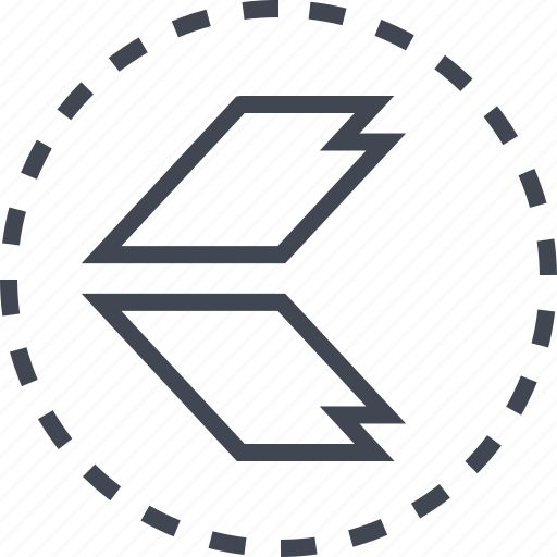arrow, back, exit, sleek icon
