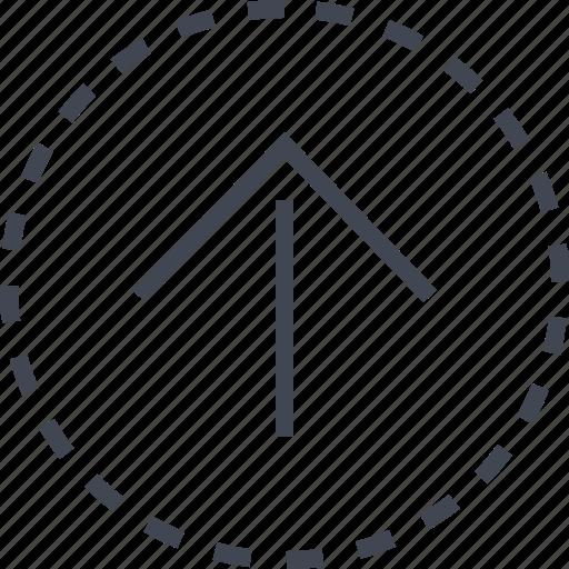 arrow, go, sleek, up icon