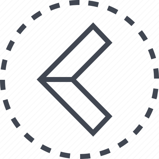 arrow, back, direction, exit, pointer icon