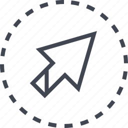 arrow, click, direction, right icon
