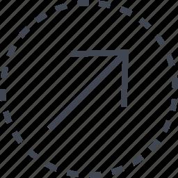 arrow, diagnol, direction icon