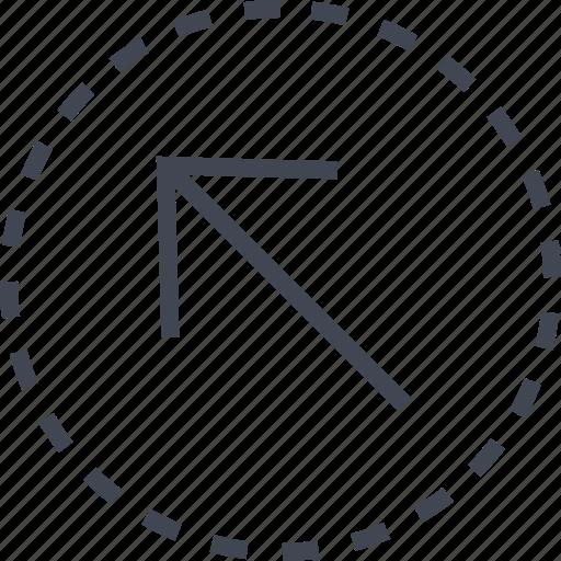 arrow, diagnol, sleek, up icon