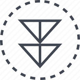 arrow, direction, double, down icon