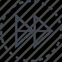 arrow, double, pointer, sleek icon