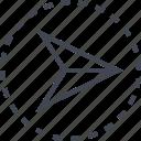arrow, gps, pointer, right