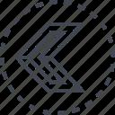 arrow, left, pointer, sleek