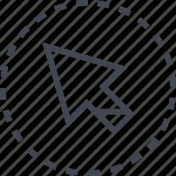 arrow, pointer icon