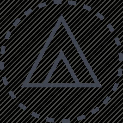 arrow, pointer, sleek, triangle, up icon