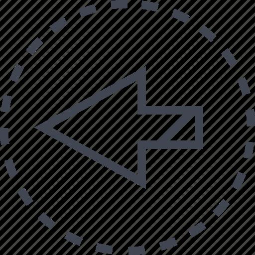 arrow, left, pointer icon