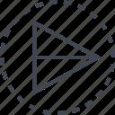 arrow, pointer, right, triangle icon