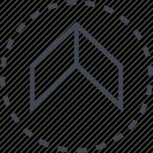 arrow, pointer, sleek, up icon