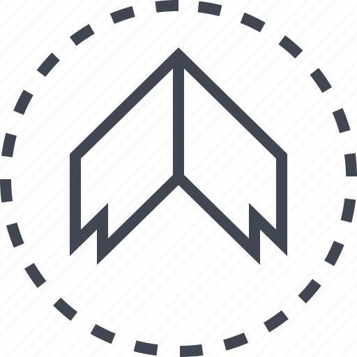 arrow, pointer, thick, up icon
