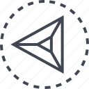 arrow, direction, left, triangle icon