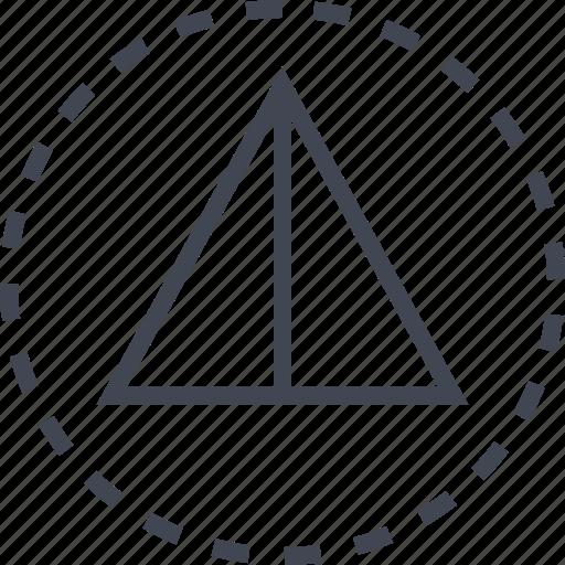arrow, pointer, triangle, up icon