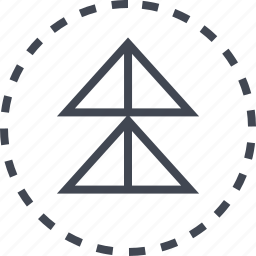 arrow, double, pointer, up icon