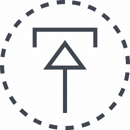 arrow, sleek, up, upload icon