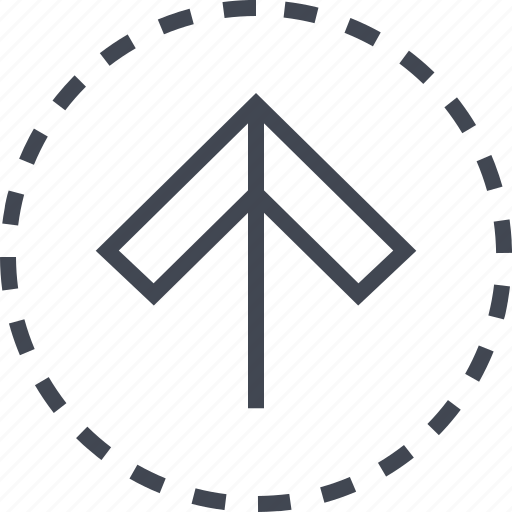 arrow, direction, up, upload icon