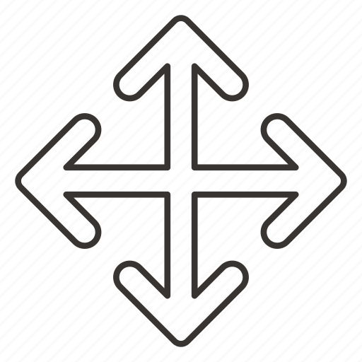 Arrow, arrows, direction, down, left, right, top icon - Download on Iconfinder