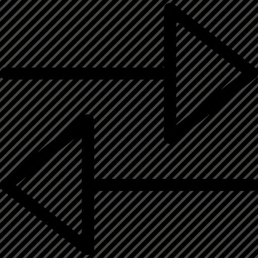 arrow, left, plain, right icon