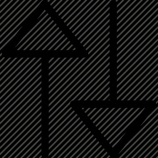 arrow, down, plain, up icon