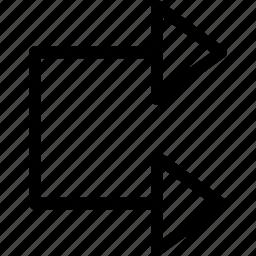 arrow, double, right icon