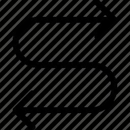 arrow, bidirection, left, right icon