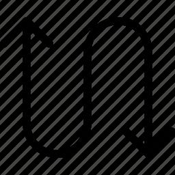 arrow, bidirection, down, up icon