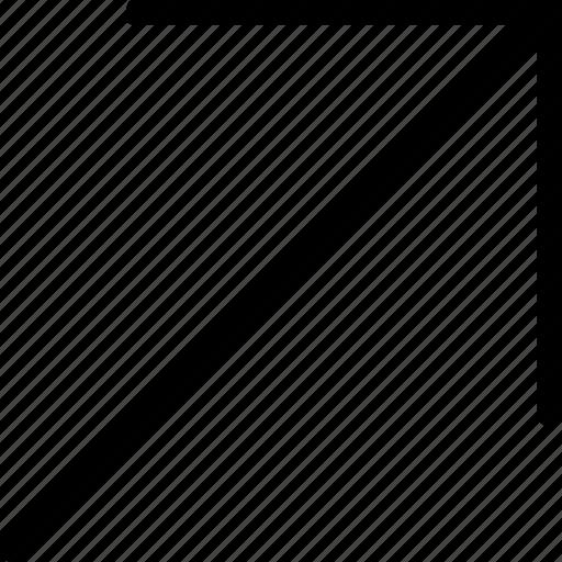 arrow, plain, right, up icon