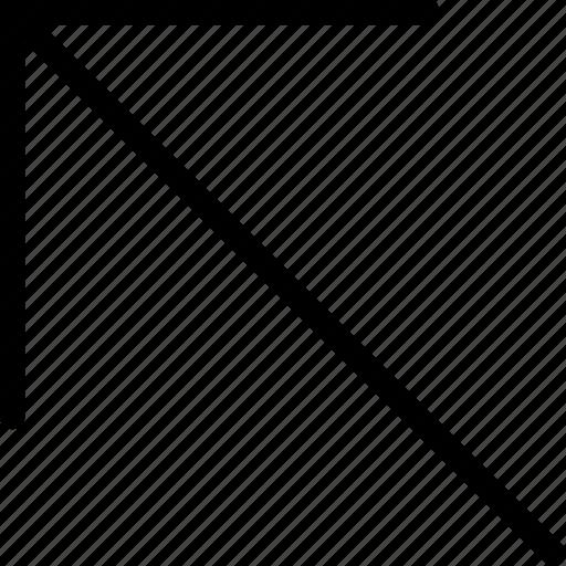 arrow, left, plain, up icon