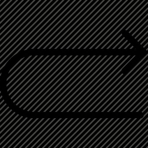 arrow, right, uturn icon