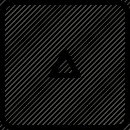 arrow, square, up icon
