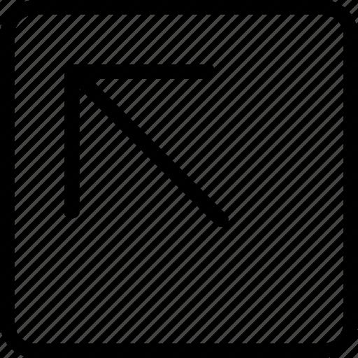 arrow, corner, left, plain, square, up icon
