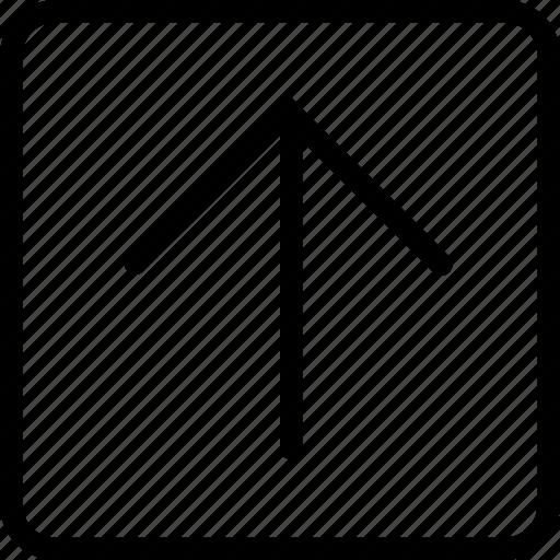 arrow, plain, square, up icon
