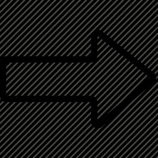 arrow, bolded, right icon