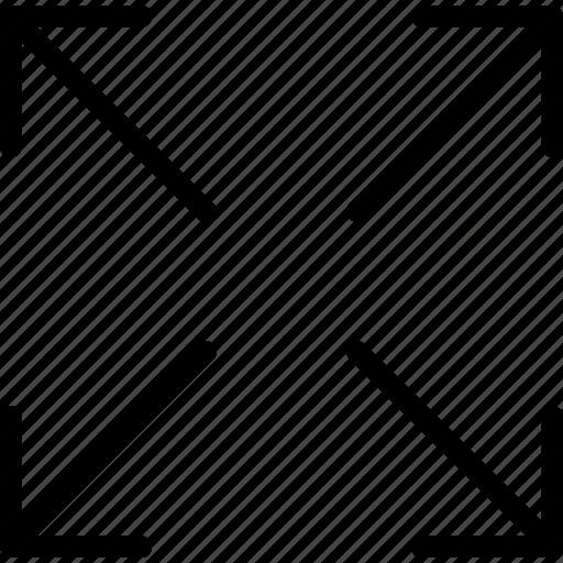 arrow, square, target icon