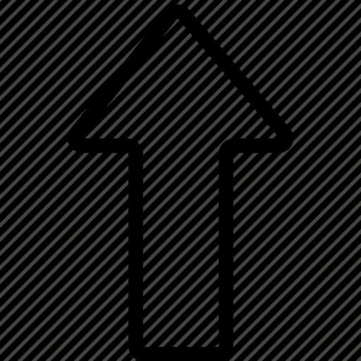 arrow, bolded, up icon